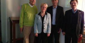 von links nach rechts: Herr Albrecht Lattermann, Frau Sigrun Kuschk, Herr Sven Hachenberger, Herr Stephan Mies