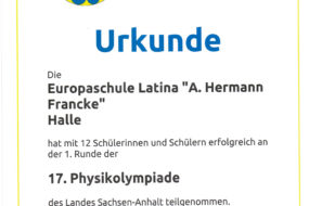 17. Physikolympiade des Landes Sachsen-Anhalt